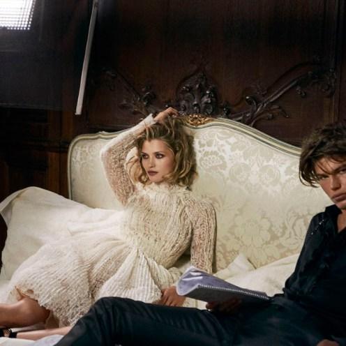 couple JORDAN BARRETT ermanno scervino fw16 campaign fashiondailymag 4