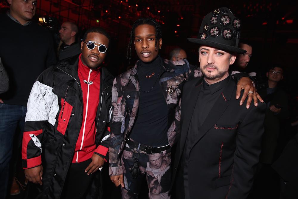 Asap Ferg & Asap Rocky & Boy George_Saskia Lawaks pour Dior Homme