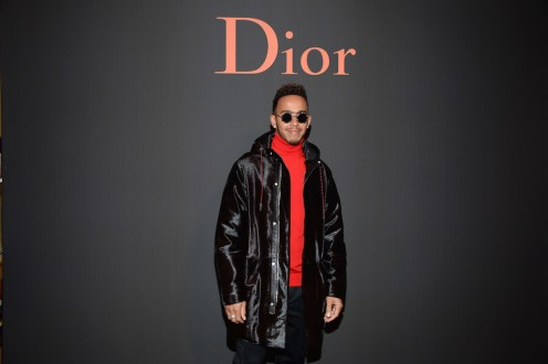 PARIS, FRANCE - JANUARY 21: Lewis Hamilton attends the Dior Homme Menswear Fall/Winter 2017-2018 show as part of Paris Fashion Week on January 21, 2017 in Paris, France. (Photo by Francois Durand/Getty Images) *** Local Caption *** Lewis Hamilton