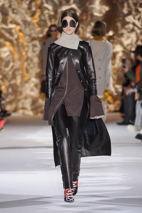 ACNE STUDIOS FW17 PFW FASHIONDAILYMAG leather