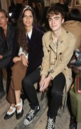 LONDON, ENGLAND - SEPTEMBER 16: Hayett McCarthy (L) and Lennon Gallagher wearing Burberry at the Burberry September 2017 at London Fashion Week at The Old Sessions House on September 16, 2017 in London, England. Pic Credit: Dave Benett