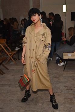 LONDON, ENGLAND - SEPTEMBER 16: Koharu Sugawara wearing Burberry at the Burberry September 2017 at London Fashion Week at The Old Sessions House on September 16, 2017 in London, England. (Photo by David M. Benett/Dave Benett/Getty Images for Burberry) *** Local Caption *** Koharu Sugawara