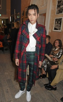 LONDON, ENGLAND - SEPTEMBER 16: Kris Wu wearing Burberry at the Burberry September 2017 at London Fashion Week at The Old Sessions House on September 16, 2017 in London, England. Pic Credit: Dave Benett