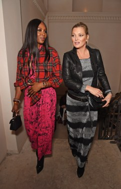 kate moss and naomi campbell Burberry September 2017 Show
