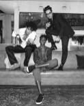 Markel Williams, (wearing Burberry), Myles O'Neal, (wearing Burberry), Levi Dylan, (wearing Burberry)