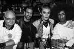 Mickey Boardman, , (wearing Burberry), Nyle DiMarco, Onion, , (wearing Burberry), Forrest Johnson, (wearing Burberry)