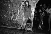 Peyton List, (wearing Burberry), Sistine Stallone, (wearing Burberry)