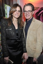 LOS ANGELES, CA - JANUARY 04: Desiree Gruber (L) and Kyle MacLachlan attend W Magazine's Celebration of its 'Best Performances' Portfolio and the Golden Globes with Audi, Dior, and Dom Perignon at Chateau Marmont on January 4, 2018 in Los Angeles, California. (Photo by Donato Sardella/Getty Images for W Magazine)