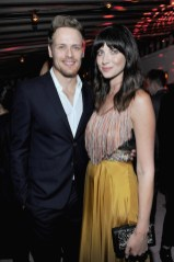 LOS ANGELES, CA - JANUARY 04: Sam Heughan (L) and Caitriona Balfe attend W Magazine's Celebration of its 'Best Performances' Portfolio and the Golden Globes with Audi, Dior, and Dom Perignon at Chateau Marmont on January 4, 2018 in Los Angeles, California. (Photo by Donato Sardella/Getty Images for W Magazine)