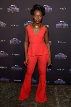 NEW YORK, NY - FEBRUARY 12: Lupita Nyong'o attends the Marvel Studios Black Panther Welcome to Wakanda New York Fashion Week Showcase at Industria Studios on February 12, 2018 in New York City. (Photo by Jamie McCarthy/Getty Images for Marvel)