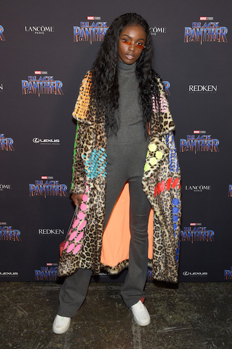 NEW YORK, NY - FEBRUARY 12: Model Leomie Anderson attends the Marvel Studios Black Panther Welcome to Wakanda New York Fashion Week Showcase at Industria Studios on February 12, 2018 in New York City. (Photo by Jamie McCarthy/Getty Images for Marvel)