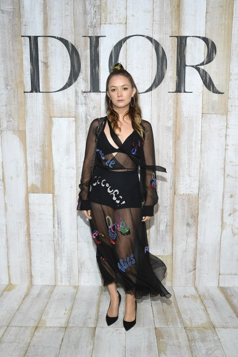 Billie Lourd Christian Dior Couture S/S19 Cruise Collection : Photocall At Grandes Ecuries De Chantilly