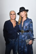 PARIS, FRANCE - SEPTEMBER 24: Maria Grazia Chiuri and Audrey Marnay pose backstage after the Christian Dior show as part of the Paris Fashion Week Womenswear Spring/Summer 2019 on September 24, 2018 in Paris, France. (Photo by Victor Boyko/Getty Images) *** Local Caption *** Maria Grazia Chiuri; Audrey Marnay