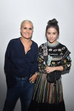 PARIS, FRANCE - SEPTEMBER 24: Maria Grazia Chiuri and Chiulin Laurinda Ho attend the Christian Dior show as part of the Paris Fashion Week Womenswear Spring/Summer 2019 on September 24, 2018 in Paris, France. (Photo by Victor Boyko/Getty Images) *** Local Caption *** Chiulin Laurinda Ho; Maria Grazia Chiuri