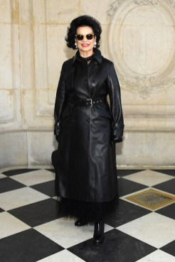PARIS, FRANCE - JANUARY 21: Bianca Jagger attends the Christian Dior Haute Couture Spring Summer 2019 show as part of Paris Fashion Week on January 21, 2019 in Paris, France. (Photo by Pascal Le Segretain/Getty Images)