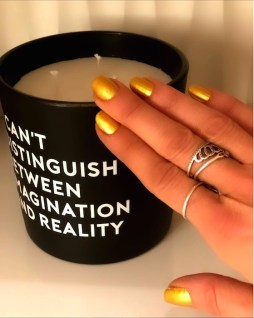 gold nails for spring brigitte segura fashiondailymag