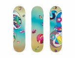 185_A SET OF THREE SHARP TOOTH BEAR COMPLEXCON x TAKASHI MURAKAMI SKATEBOARD DECKS