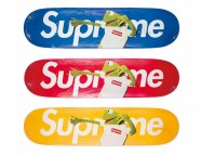 213_A SET OF THREE TERRY RICHARDSON KERMIT SKATEBOARDS