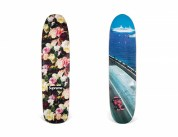 267_A GROUP 2 SKATEBOARDS FLOWER, CORRUPTION, LIES SKATEBOARD & GRAND PRIX CRUISER