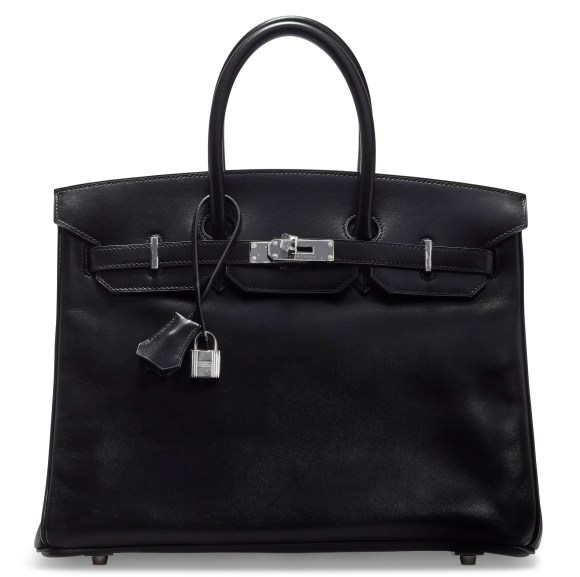 BLACK BIRKIN A LIMITED EDITION BLACK CALFBOX LEATHER SO BLACK BIRKIN 35 WITH BLACK PVC HARDWARECHANEL and BIRKIN handbags x hype christies FashionDailyMag fashion brigitteseguracurator