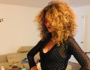 BRIGITTESEGURAHAIR curly hair expert fashiondailymag gucci sunglasses 3wishes sparkle jumpsuit hair products