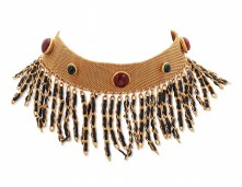 LOT 11_UNSIGNED CHANEL GRIPOIX GLASS AND LEATHER CHOKER NECKLACEJEWEL HAPPY FASHIONDAILYMAG brigitteseguracurator
