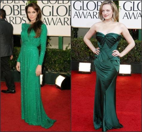 Angelina Jolie & Elisabeth Moss Golden Globes