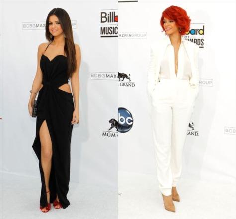 Selena Gomez and Rihanna