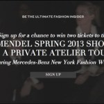 Win two tickets to New York Fashion Week Spring 2013