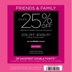 Saks Friends and Family Sale 2013: 25% savings