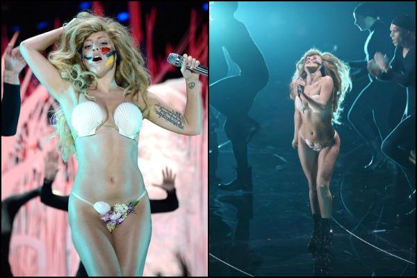 Lady Gaga in shell bikini at VMA 2013
