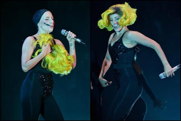 Lady Gaga wearing bodysuit at VMA 2013