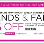Bloomingdale's Friends and Family Sale Oct 2013: Save 20%