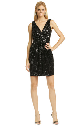 Get your hands on the ultimate party dress for the event by wearing this fab Badgley Mischka sequin sensation.