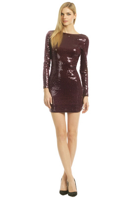 Show off your legs in this sequin sensation by Robert Rodriguez Collection at the club. You'll be the center of attention.
