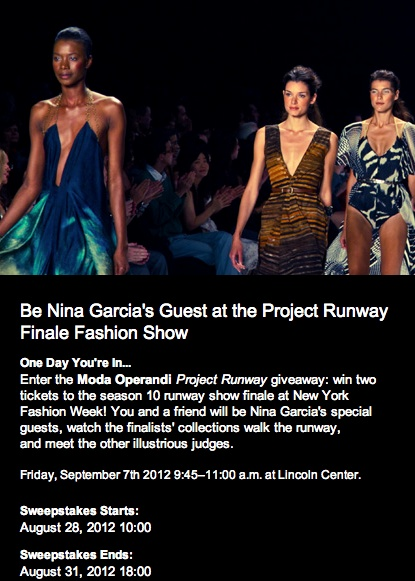Project Runway Season 10 finale at NY Fashion Week