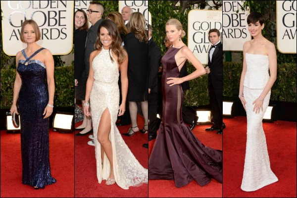 Golden Globe Awards Red Carpet Fashion