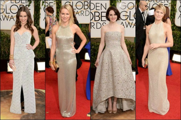 Golden Globes 2014 Red Carpet Fashion Gold