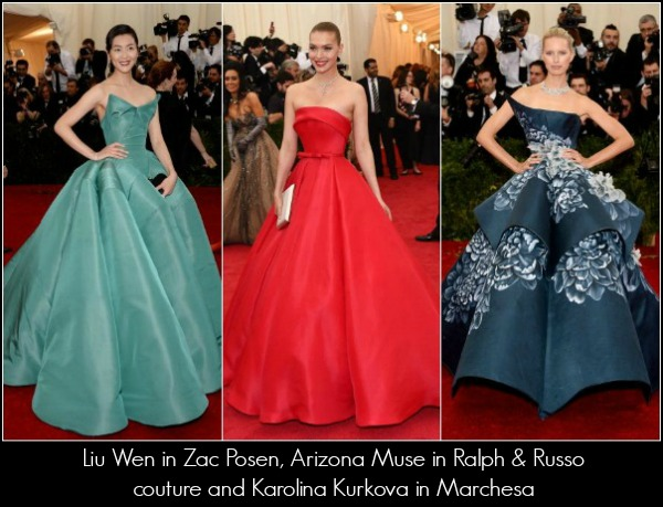 METGala 2014 red carpet fashion breakdown
