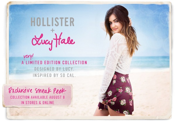 Lucy Hale for Hollister