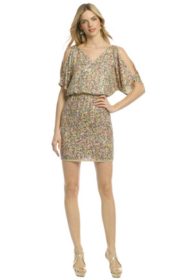 Get ready to shimmy it on the dance floor in this multicolored sequin dress by Trina Turk.