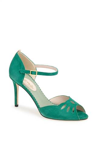 """The """"Ina"""" shoe in green ($355)"""