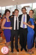 wearing: Nicole Miller, Canali, Sean John, Greta Constatine