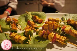 Eat to The Beat 2012 @ Roy Thomson Hall - Tandoori marinated paneer skewers with grilled vegetables served with seasonal sweet apple chutney by Arvinda Chauhan, Preena Chauhan, Arvinda's