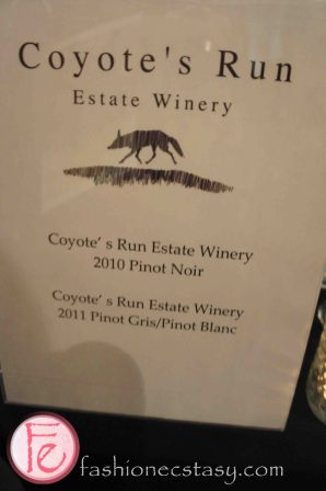 Coyote's Run Estate Winery @ 2012 What's On The Table
