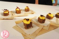 sticky carrot & ginger cake with sour cream & squash icing & pumpkin seed brittle by Cory Vitello, The Harbord Room @ 2012 What's On The Table