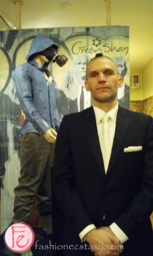 Joel Richardson at The Greenshag Suitman Project Fashion Launch