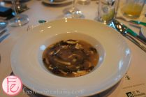 Bouillon of Jade - chicken base soup with wood ear fungus & vegetables