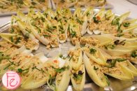 2013 Dragon Ball Toronto - crab salad with mango, ginger and Thai basil on Belgian endive (by Humber College)