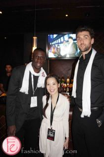 Mickaël Piétrus & Andrea Bargnani at the 2013 Players' Gala with Toronto Raptors, Toronto Maple Leafs, Toronto FC for The MLSE Team Up Foundation